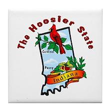 """Indiana Pride"" Tile Coaster"