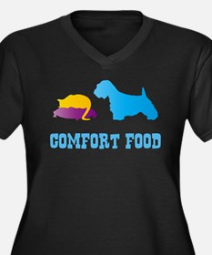 Sealyham Terrier Women's Plus Size V-Neck Dark T-S