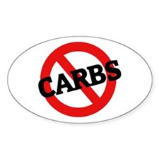 Anti Carbs Oval Decal