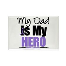 My Dad is My Hero Rectangle Magnet