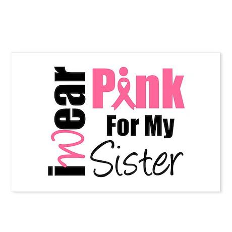 I Wear Pink (Sister) Postcards (Package of 8)