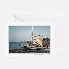 Japanese sailboat, Yamaguchi, Japan Greeting Cards