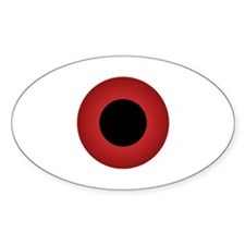 Fire Red Eyeball Oval Decal