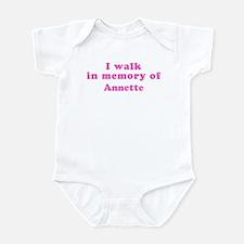 Walk in memory of Annette Infant Bodysuit