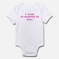 Walk in memory of Cora Infant Bodysuit
