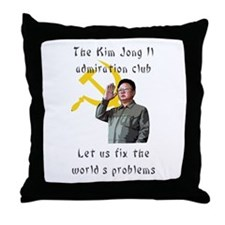 Cute North korea propaganda Throw Pillow