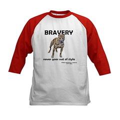 Bravery Qoute Kids Baseball Jersey
