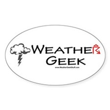 Weather Geek Oval Decal