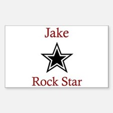 Jake - Rock Star Rectangle Decal