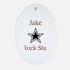 Jake - Rock Star Oval Ornament