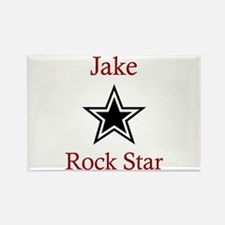 Jake - Rock Star Rectangle Magnet