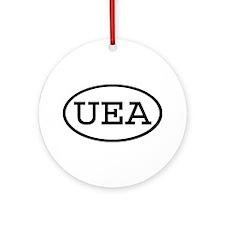 UEA Oval Ornament (Round)