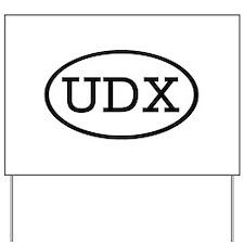 UDX Oval Yard Sign