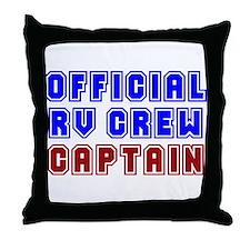 RV Captain Throw Pillow
