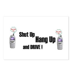 SHUT UP ,HANG UP , AND DRIVE! Postcards (Package o