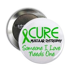"""CURE Muscular Dystrophy 2 2.25"""" Button"""