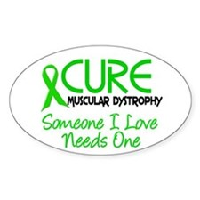 CURE Muscular Dystrophy 2 Oval Decal
