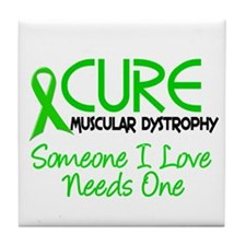 CURE Muscular Dystrophy 2 Tile Coaster