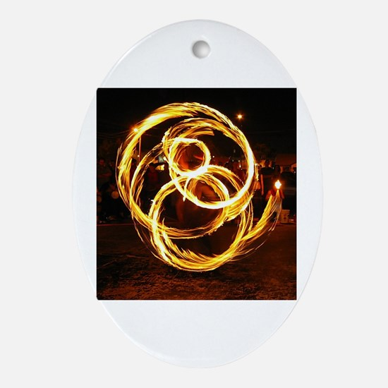 Funny Spinner Oval Ornament