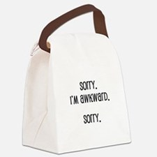 Sorry I'm Awkward Canvas Lunch Bag