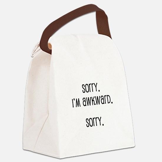 Sorry I'm Awkward Canvas Lunch Bag