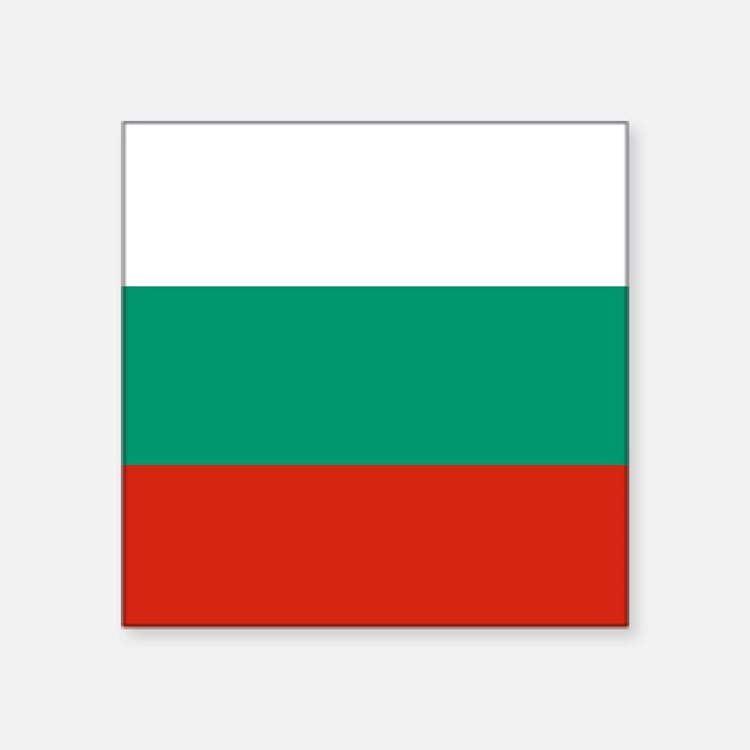 "Flag: Bulgaria Square Sticker 3"" x 3"""