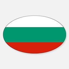 Flag: Bulgaria Sticker (Oval)