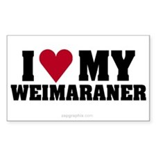 Love My Weimaraner Sticker (Rect)