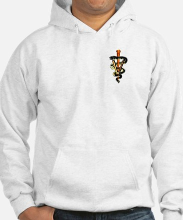 Veterinary Caduceus Hoodie Sweatshirt