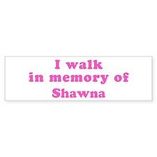 Walk in memory of Shawn Bumper Bumper Sticker