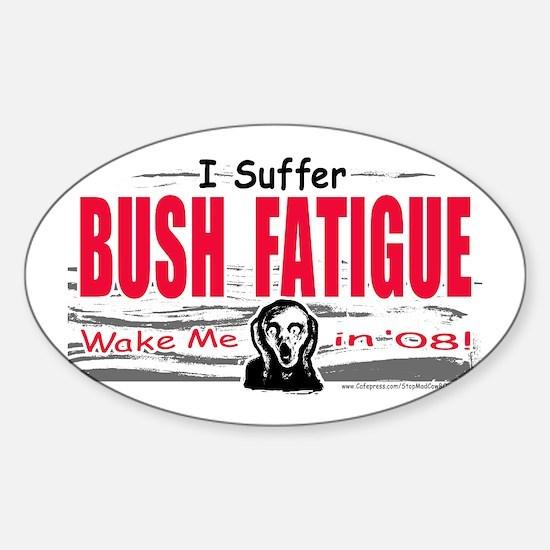 Bush Fatigue Oval Decal