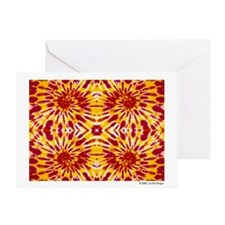 """Fire"" Tie Dye Greeting Card"