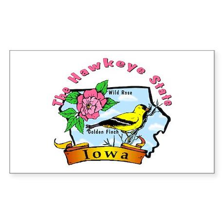 """""""Iowa Pride"""" Rectangle Sticker"""