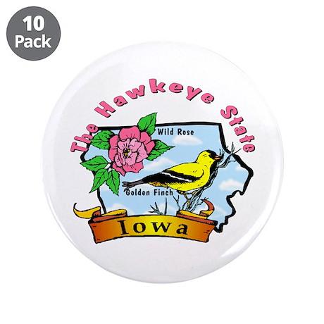 """""""Iowa Pride"""" 3.5"""" Button (10 pack)"""