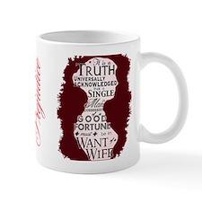 Pride and Prejudice Quote Small Mug