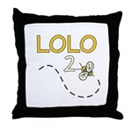Lolo to Be (Bee) Throw Pillow
