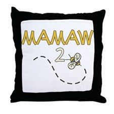 Mamaw to Be (Bee) Throw Pillow