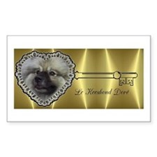 Le Keeshond Dore Rectangle Decal