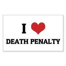 I Love Death Penalty Rectangle Decal