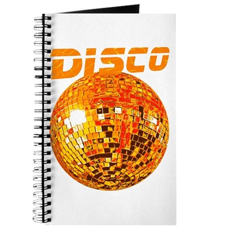 Orange Disco Ball Journal