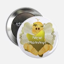 Angel Baby New Mommy Button