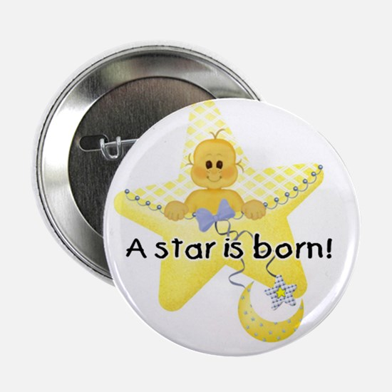 A Star is Born White Baby Button