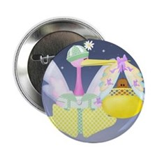 Stork New Baby Button