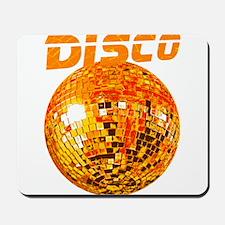 Orange Disco Ball Mousepad