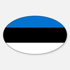 Flag: Estonia Sticker (Oval)