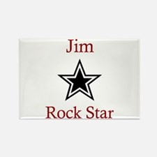 Jim - Rock Star Rectangle Magnet