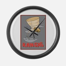 Kansas Pride! Large Wall Clock