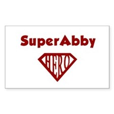 Super Hero Abby Rectangle Decal