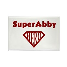 Super Hero Abby Rectangle Magnet