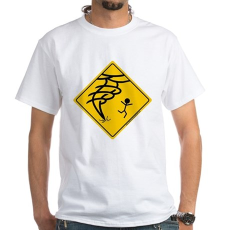 Tornado Warning White T-Shirt